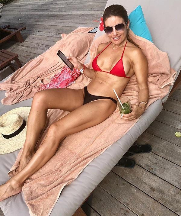 Ada showing off her incredible bikini body on Instagram.