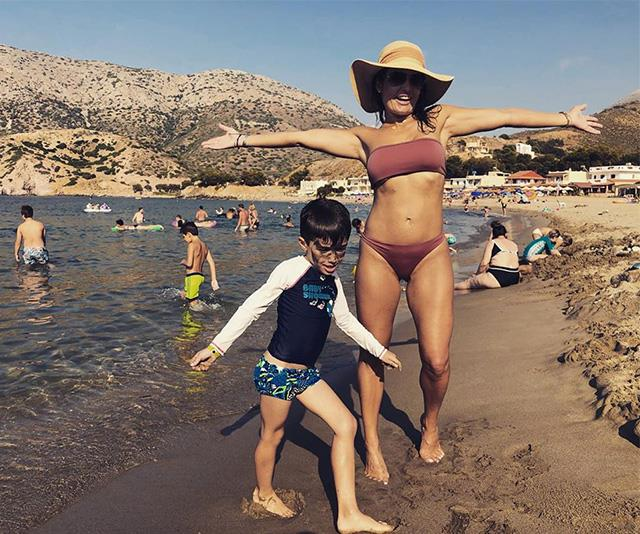 Ada and her son Johnas pictured on holidays together.