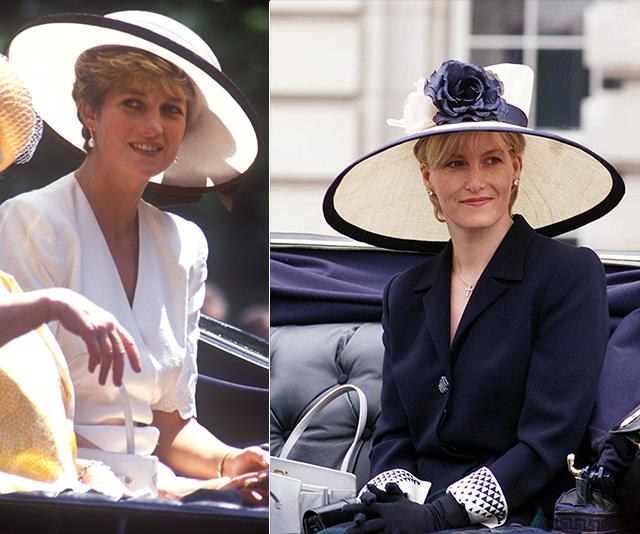 Both knew the importance of a statement monochrome hat when attending Trooping the Colour.
