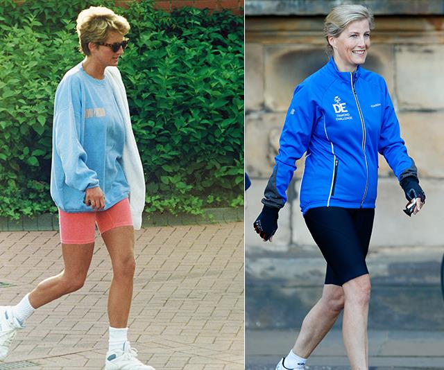 The active royals look good in bike shorts too!