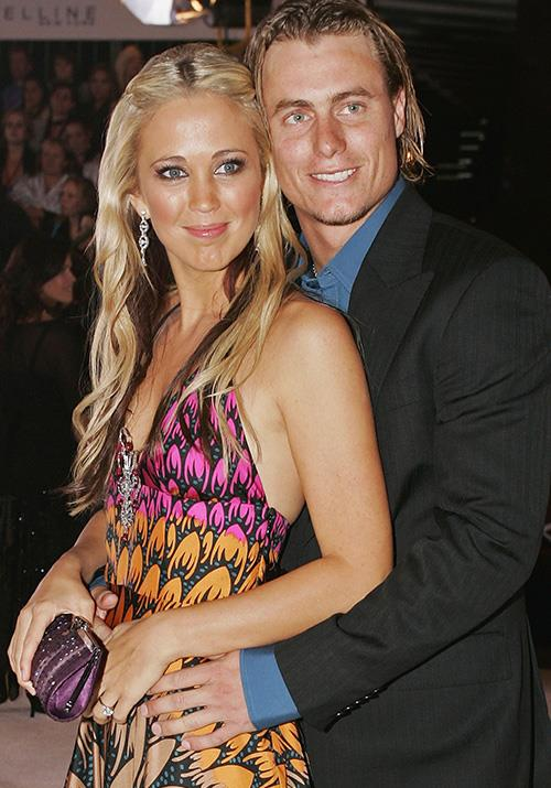 The following year, Bec and Lleyton proved they were all about noughties fashion. The two-toned palette was back!