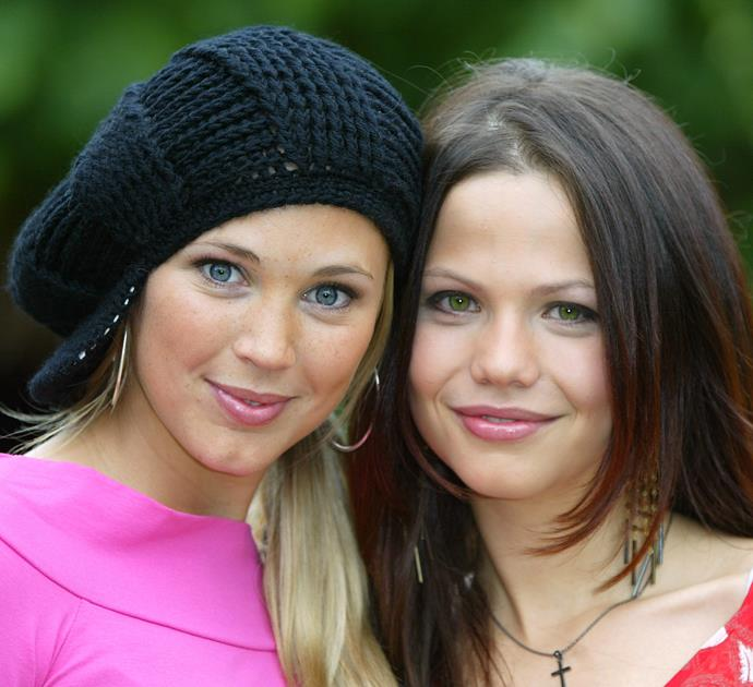 On occasion, Bec opted for a hat to accessorise her tresses. Pictured here in London in 2003 with cast mate Tammin Sursok, the *Home and Away* gals are giving us all kinds of flashbacks.