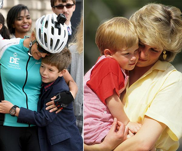 As mothers, there are plenty of photos of Sophie and Diana showing their love and devotion to their children.