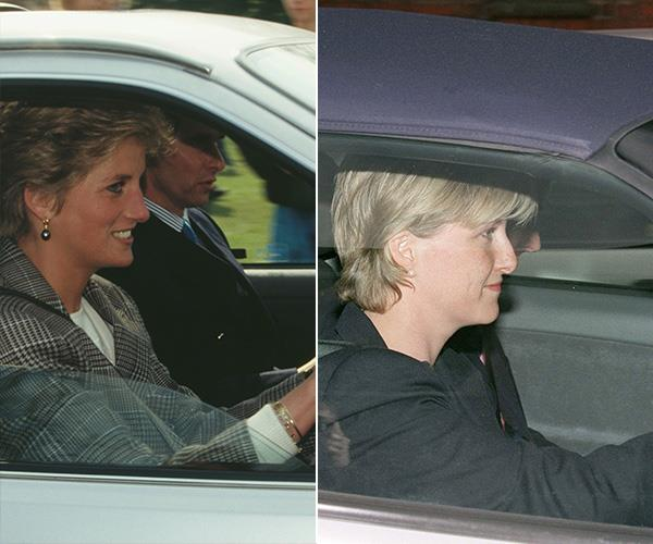 When Sophie drove away from work for the last time before her royal wedding, it reminded us of all the times Princess Diana went behind the wheel.