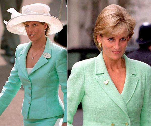 Power suits were all the rage in the nineties, and we love this matching mint green hue.