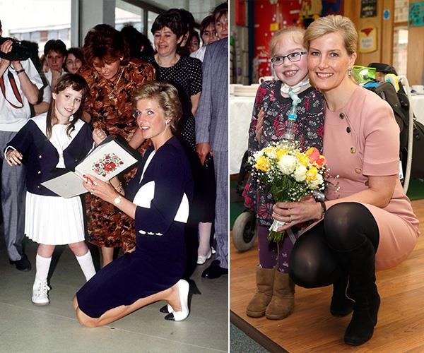 Diana was famous for her maternal instincts and it seems Sophie shares that quality.