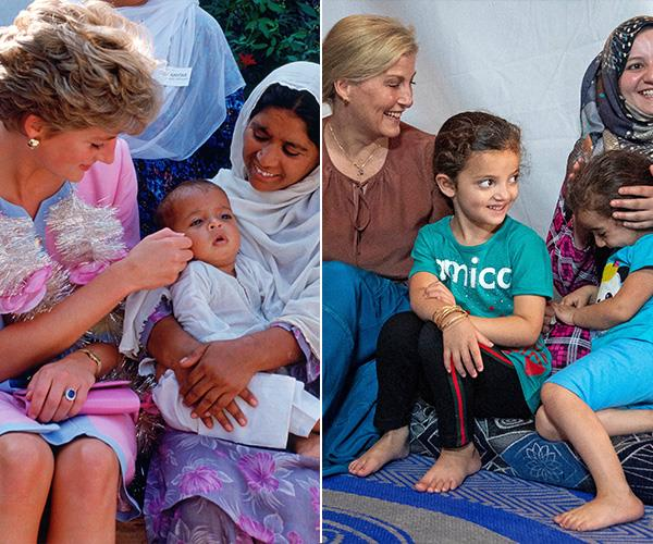 Diana's charity work took her all over the world from Africa to the Middle East to the streets of London, just like Sophie's which she continues to do as an active member of the royal family. And kids love them too!