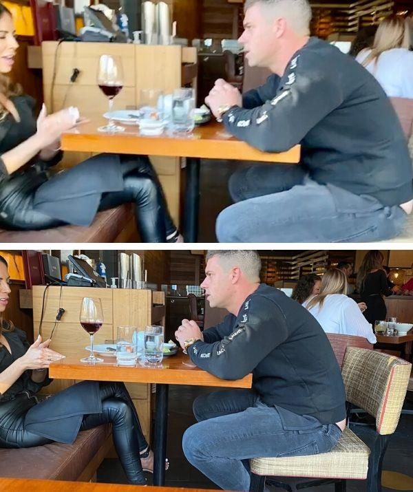 Busted! KC and Michael were flirting up a storm at Melbourne's Nobu Restaurant.