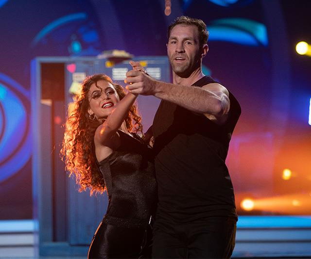 """**TRAVIS CLOKE** <br><br> The AFL star sadly wasn't as impressive on the dancefloor as he [once was on the footy field](https://www.nowtolove.com.au/parenting/celebrity-families/celebrities-baby-pictures-41609 target=""""_blank""""), and was sent home in the show's fifth week."""