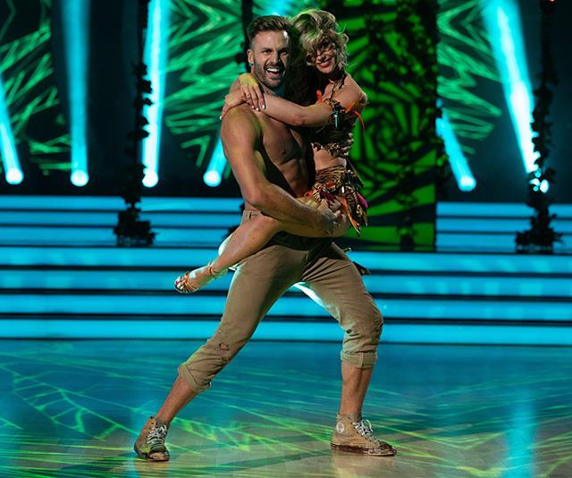 """**BEAU RYAN** <br><br> The footy star turned TV and radio host was brought to his knees - literally - by *DWTS'* Latin week. But even after being eliminated so early, Beau remained positive. """"It's been one hell of a journey. [I challenge myself every day](https://www.nowtolove.com.au/parenting/celebrity-families/beau-ryan-kids-53798 target=""""_blank"""") and this was one huge challenge and I won't stop,"""" he said."""