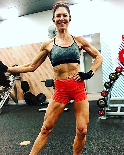Jacqui attributes her fitness to body building.