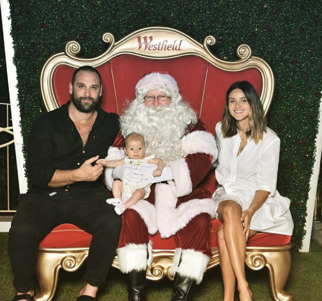 At Christmas, the *Home and Away* star and partner Alice stuck to tradition by getting an iconic pic with Westfield's Santa. We personally reckon it's an achievement that Wolf didn't cry at all - our hearts!