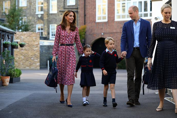 Kate was seen with her three young children at a local Sainsbury's in the North-East of England, according to a local.