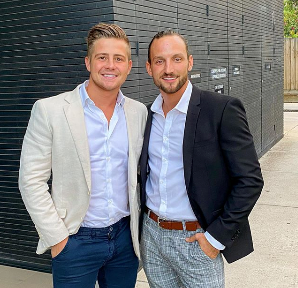 Mikey and Jonethen were two of the *MAFS* grooms at the Grand Prix event.