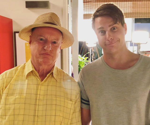 We get the feeling Ray has quite the cheeky side thanks to this goofy pic with co-star Tim Franklin.
