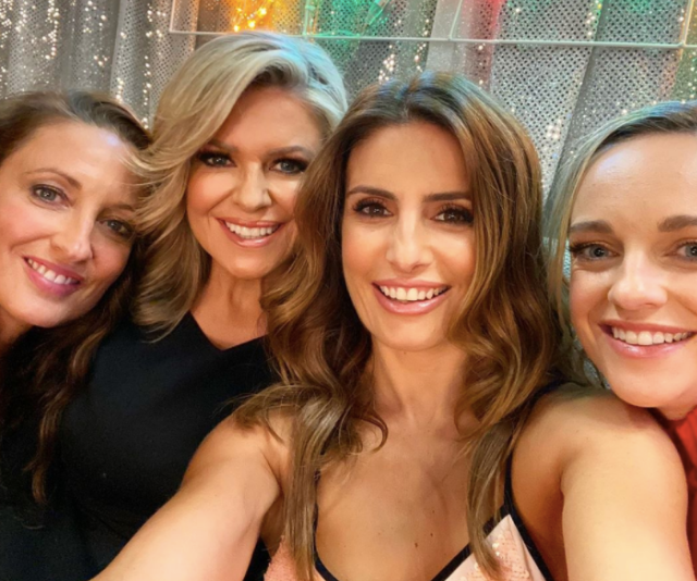 Ultimate girl gang, Georgie Parker, Emily Symons, Ada Nicodemou and Penny McNamee celebrate Home And Away's 2020 return, and this is one party we wish we had an invite to!