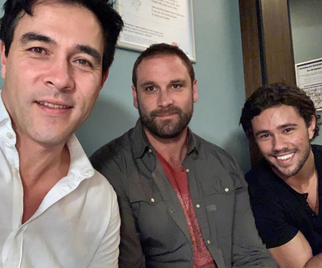 """STILL CRYING. James farewells both [Orpheus Pledger](https://www.nowtolove.com.au/celebrity/tv/orpheus-pledger-leaves-home-and-away-60547