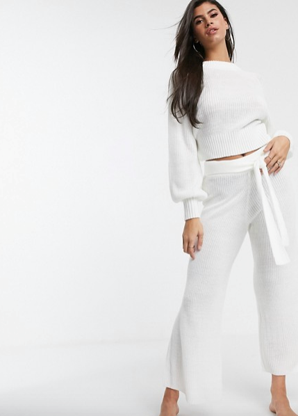 "ASOS DESIGN lounge premium knitted jumper & wide leg pant. Top $60, pants $70. [Buy it online here](https://www.asos.com/au/asos-design/asos-design-lounge-premium-knitted-jumper-wide-leg-pant/grp/26394|target=""_blank""
