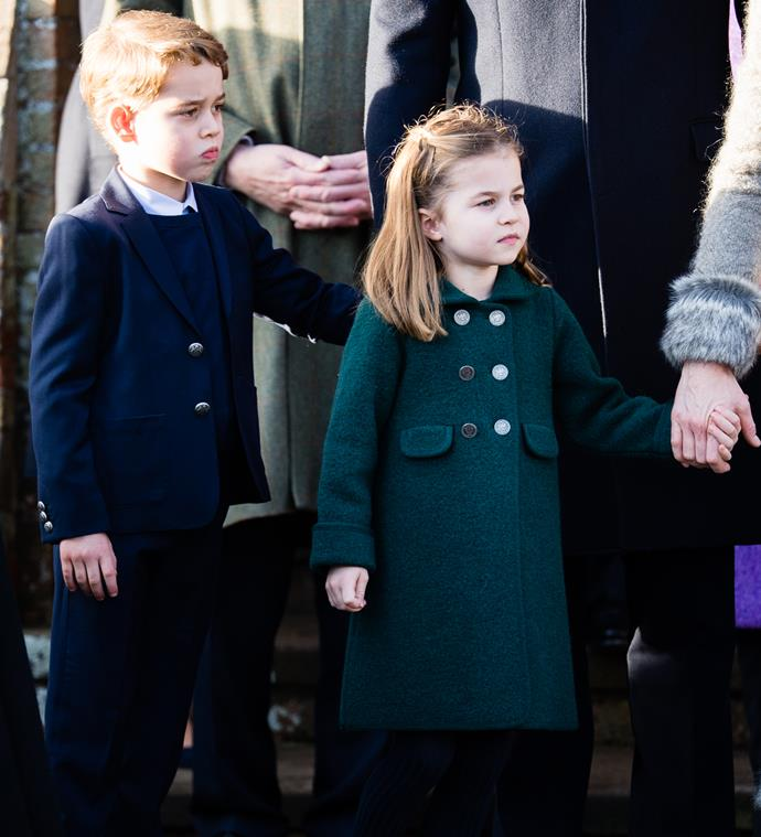 George and Charlotte were spotted by a supermarket shopper near their country home Anmer Hall over the weekend.