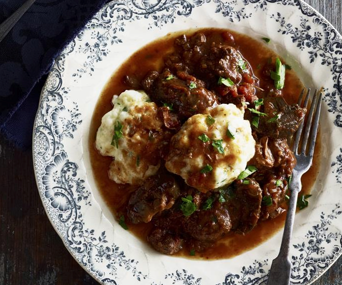 """Staying inside isn't so bad when you have this **[beef casserole](https://www.womensweeklyfood.com.au/recipes/beef-casserole-with-cheesy-herb-dumplings-15203