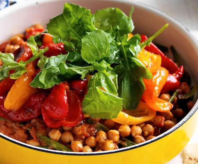 """Cooked in paprika, this **[smoky chickpea stew](https://www.womensweeklyfood.com.au/recipes/smoky-chickpea-stew-27850