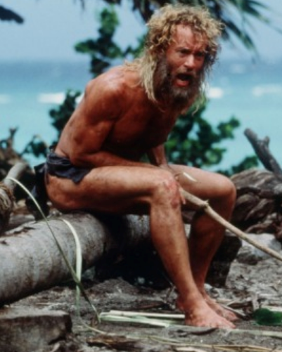 ***Cast Away*** <br><br> After finding himself on a deserted island following a plane crash, Chuck Nolan has no way to escape, so he finds new ways to survive. A poignant film to watch in these self-isolating times.