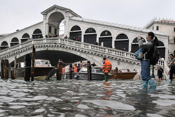 Venice has experienced an 'alta acqua', its highest tide in 50 years. The Venetian canals are now replenished, after drying up earlier this year. Not only that, but the lack of tourism in the famous city has also left the previously dirty water sparkingly crystal clear.