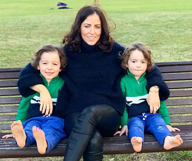 Lisa with her two gorgeous boys.