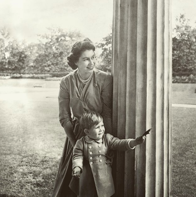 Clarence House shared this beautiful picture of the Queen and Prince Charles in 1950.