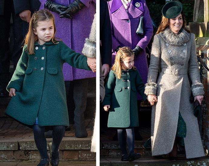 "Queens of the curtsy! Princess Charlotte and proud mother Duchess Catherine showed off their in-sync bobs during the Royal Family's annual Christmas morning trip to church [in December 2019.](https://www.nowtolove.com.au/royals/british-royal-family/royal-family-christmas-church-2019-61735|target=""_blank"")"