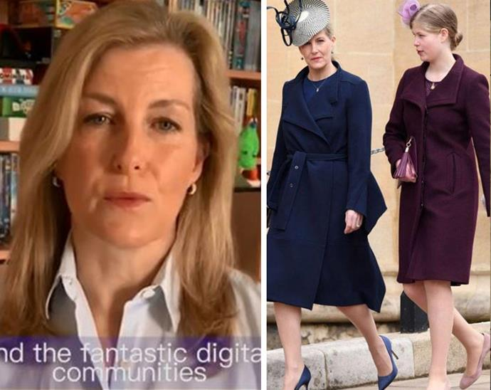 The heartfelt message was filmed by Sophie's 16-year-old daughter, Lady Louise Windsor.