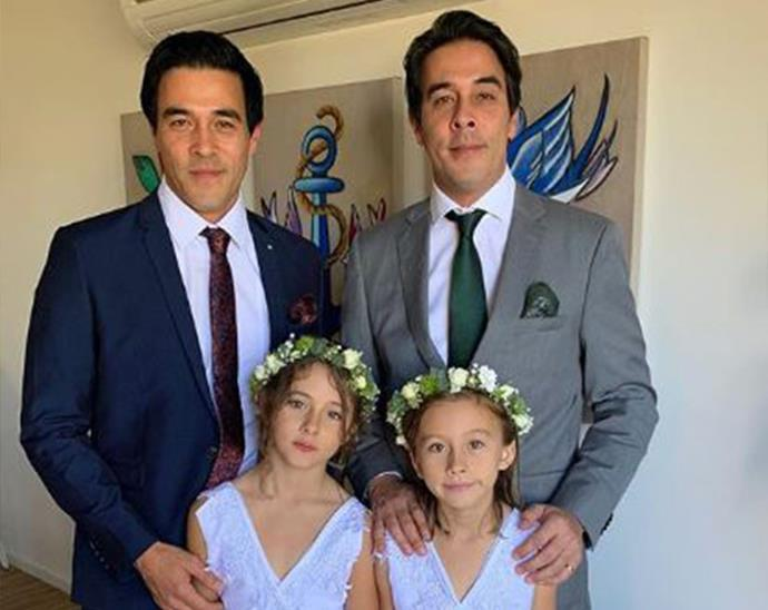 """Family time with Scout & Grace... Flower girls at my sisters wedding!"""