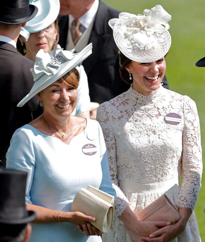 Carole and her eldest daughter looked extra chic when they attended Royal Ascot in 2017.