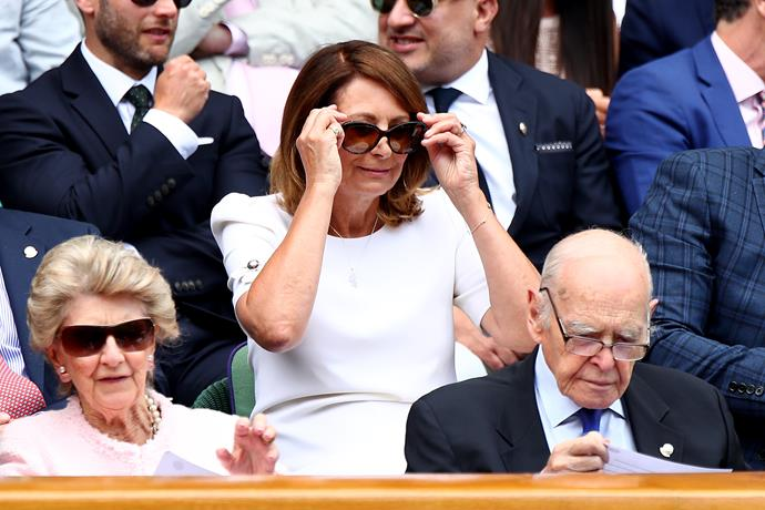 As a longtime tennis fan and player, Carole Middleton is a regular in the stands when Wimbledon is on.
