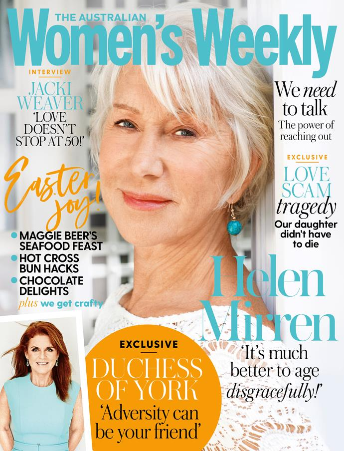 The April issue of The Australian Women's Weekly is on sale now.