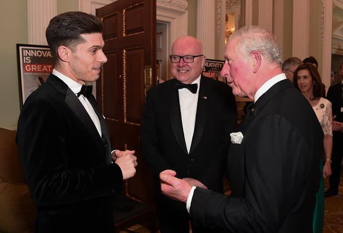 The Prince attended an event with Prince Albert of Monaco earlier in March - just days before the European royal also tested positive for the virus.