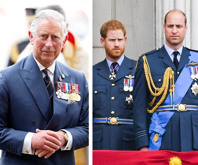 Prince Charles phoned sons William and Harry to tell them the news.