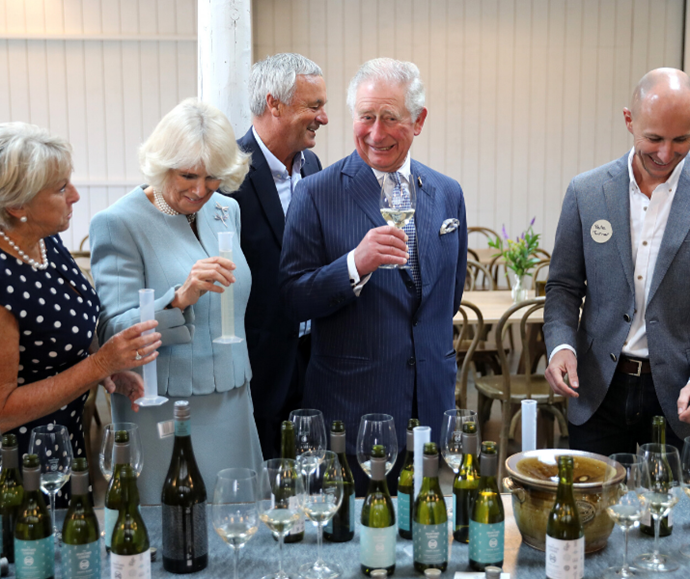 The Prince of Wales & Duchess Of Cornwall sampled the local selection of wines while visiting Auckland, New Zealand in 2019.