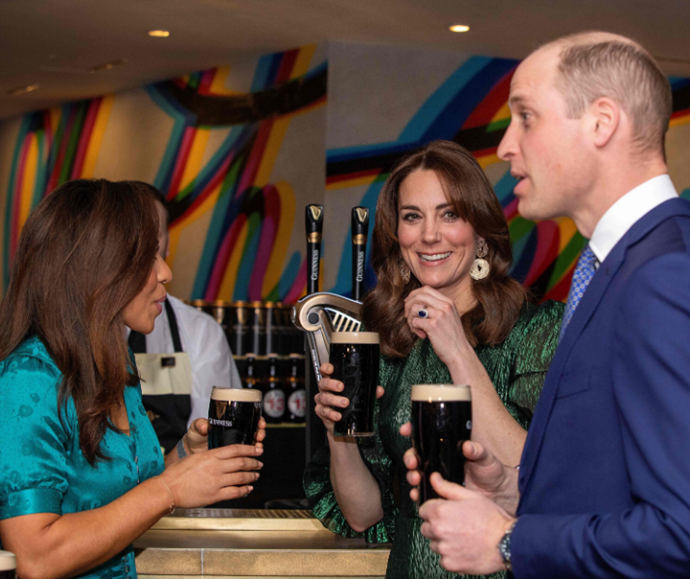 The Duke and Duchess of Cambridge attended a special reception at the Guinness Storehouses while on a tour of Ireland in March – of course, they had to taste the product, too!