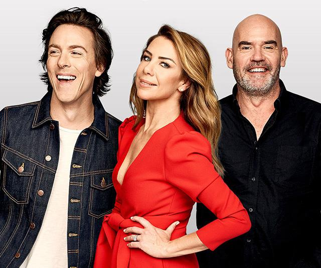 Hosts Tim Blackwell, Kate Ritchie and Marty Sheargold.