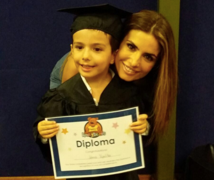 Even we want to cry over this proud mum moment, as Johnas graduated day care.