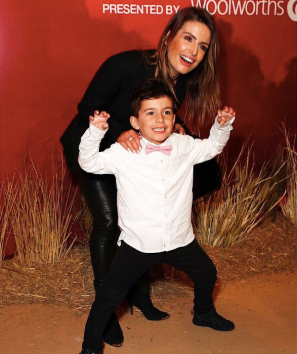 The mother-son duo stole the show at the *Lion King* premiere.