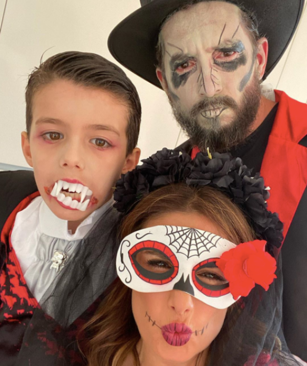 Happy Halloween from this terrifyingly cute and coordinated family.
