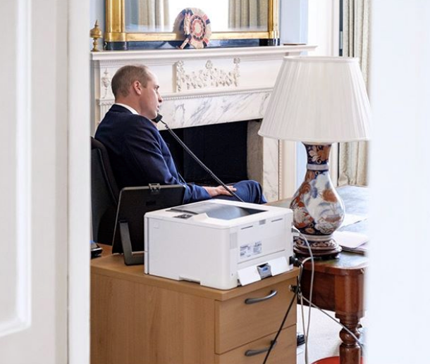 Meanwhile, William is seen speaking to Mind charity CEO Paul Farmer.