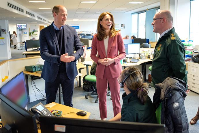 Catherine was last seen wearing her chic pink suit during a visit to an ambulance headquarters earlier in March.