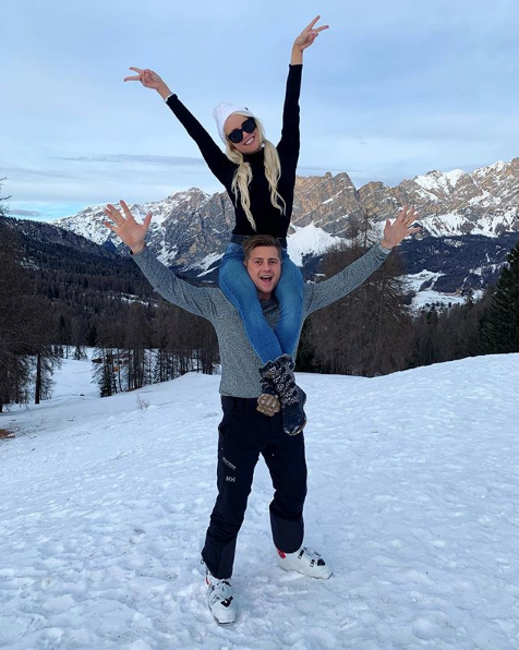 The couple holidayed together in Italy back in January.