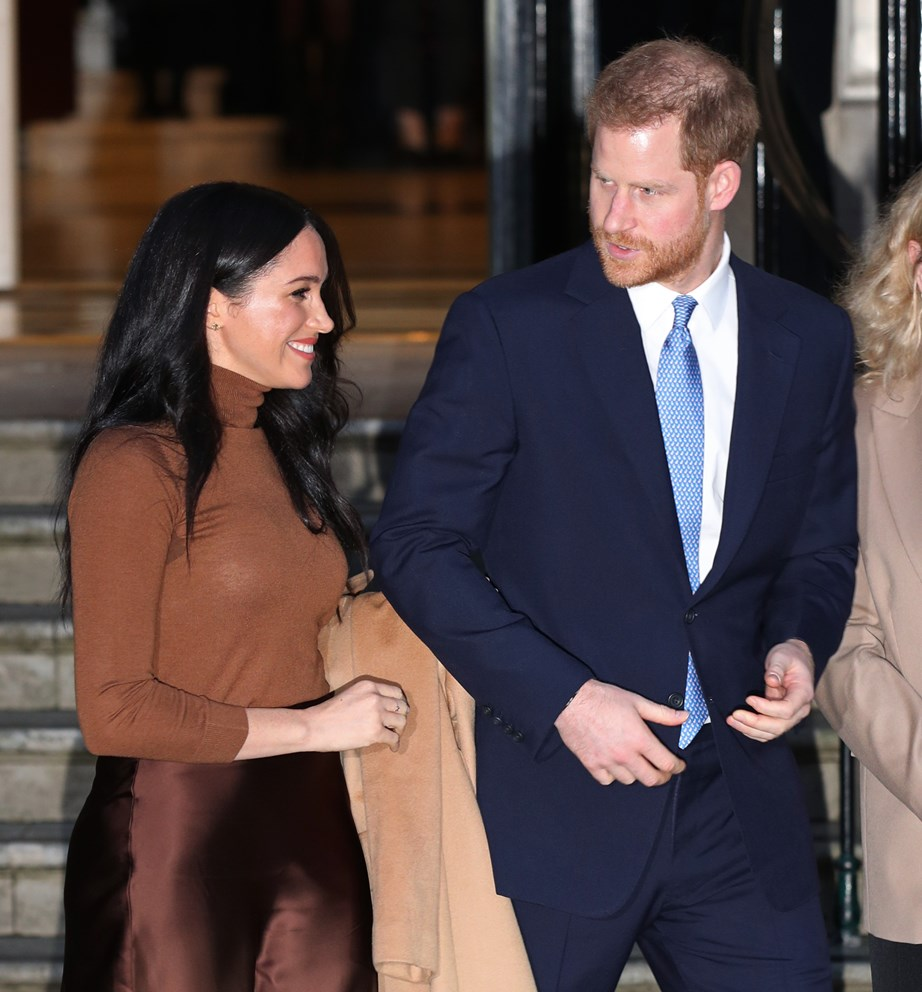 A royal source says Harry and Meghan's move to LA had always been planned, but the current pandemic brought their plans forward. *(Image: Getty)*