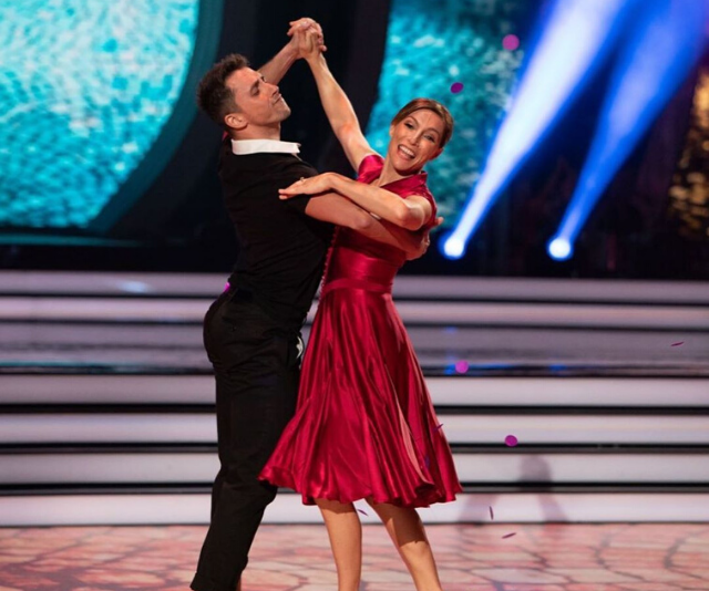 **CLAUDIA KARVAN** <br><br> The *Secret Life Of Us* actress wowed the judges with one of her final dances and was awarded 10s across the board. But it wasn't enough to take out the top spot, with Claudia coming in at third place.