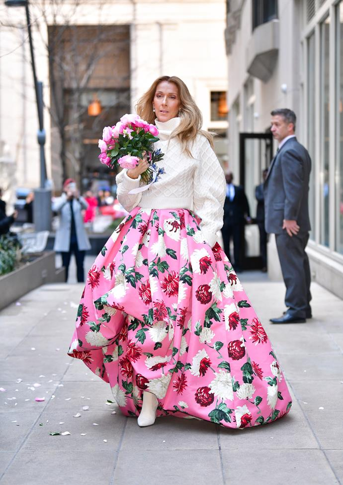 In March 2020, Celine gave new meaning to a statement skirt - the Oscar de La Renta design turned heads left right and centre.