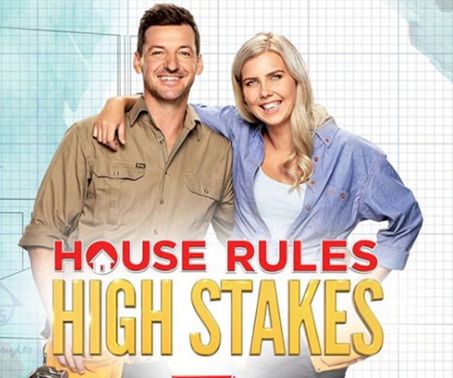 """**Kayne, 37, and Aimee, 26** <br><br> Kayne and Aimee are the show's first tradie couple. The plumbers, who met on a job site five years ago, say they plan to both """"work our butts off"""". <br><br> """"I want to show everyone that we can give it a crack just as much as the fellas,"""" Aimee says."""